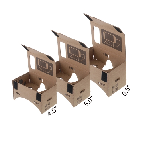 "DIY Google Cardboard Virtual Reality VR Mobile Phone 3D Viewing Glasses for 5.5"""" Screen"" V806L"