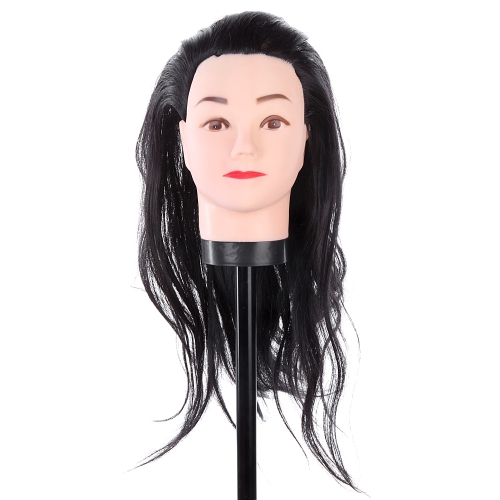 Buy Hairdressing Training Practice Head Long Hair Black Dummy Model Mannequin Cut