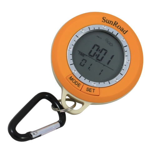 Sunroad SR108S Mini LCD Backlight Digital Pedometer Altimeter Compass Thermometer Weather Forecast Time Date Outdoor Hiking Computer Waterproof Multi-function with CarabinerWearable Sports Electronics<br>Sunroad SR108S Mini LCD Backlight Digital Pedometer Altimeter Compass Thermometer Weather Forecast Time Date Outdoor Hiking Computer Waterproof Multi-function with Carabiner<br><br>Blade Length: 13.5cm