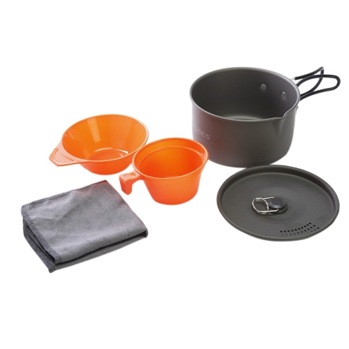 ALOCS CW-S03 1-2 People Aluminum Portable Ultralight Outdoor Non-Stick Camping Hiking Backpacking Cooking Picnic Cookware Cup Bowl Pot Dishcloth SetOutdoor Appliances<br>ALOCS CW-S03 1-2 People Aluminum Portable Ultralight Outdoor Non-Stick Camping Hiking Backpacking Cooking Picnic Cookware Cup Bowl Pot Dishcloth Set<br><br>Blade Length: 14.5cm