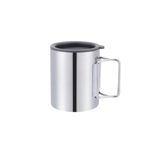 Thermal Camping Travelling Mug Cup Stainless Steel Water Cup Double Layer 280ml Y0071