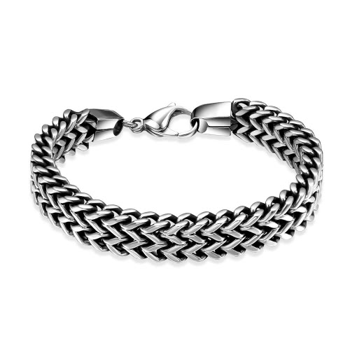 Image of Fashion 316L Stainless Steel Chain Bracelet for Men