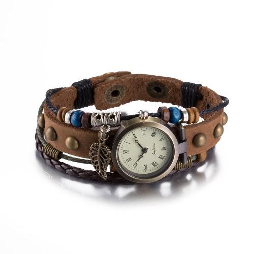Vintage Alloy Pendant Metal Charm Rope Leather Wristband Womens Bracelet WatchBracelets &amp; Bangles<br>Vintage Alloy Pendant Metal Charm Rope Leather Wristband Womens Bracelet Watch<br><br>Blade Length: 10.0cm