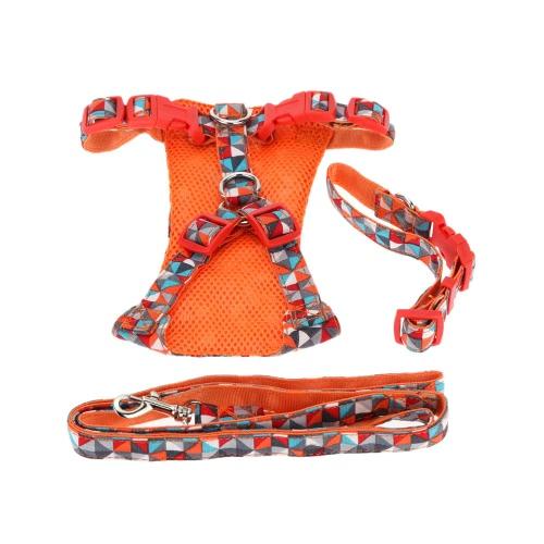 S collar ropa para mascotas cachorro tracción traje gato coño arnés Correa de perro tirando de la cuerda de las mascotas Collar suministros