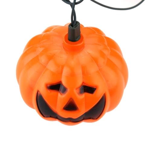 16 PCS calabaza lámpara maravillosa Jack-O-Lantern Luces Excelente Luz Led Cadena Decorado Producción para Halloween