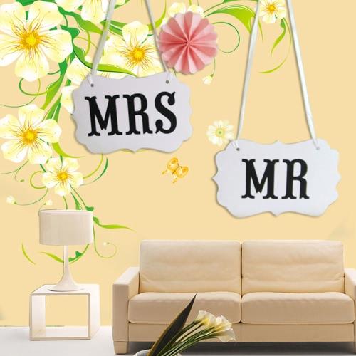 5-pack creatividad Sr. & la Sra. boda guirnaldas para boda fiesta guirnalda bandera foto cabina fotografía apoyos Prom Party Supplies